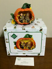 Charming Tails 85/533 Thankful We're Together - Mice in Carved Out Pumpkin - Nib
