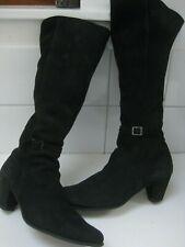 rrp£200 Ladies ARCHE black latex knee high BOOTS UK 6.5 40.5 designer France