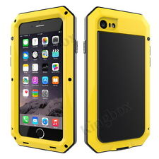 Aluminum Metal Bumper Gorilla Tempered Glass Case for iPhone 4 5 6 7 8 Plus X for iPhone 6s Yellow Yes