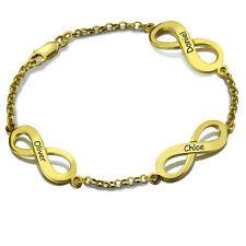 Armband Gravur Unendlichkeit Infinity Schleife Namen 925 Silber Partner / Kinder