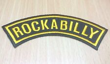 NEW ROCKABILLY MUSIC ROCK AND ROLL RETRO LOGO IRON ON PATCH SHIRT FABRIC PO283