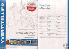 EUROPA VOLUMEN IV . CATALOGO YVERT&TELLIER . P - R . ULTIMA EDICION 2016