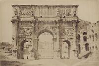 Arco Di Constantin Roma Italia Vintage Albumina Ca 1880