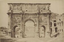 Arc de Constantin Rome Italie Italia Vintage albumine ca 1880