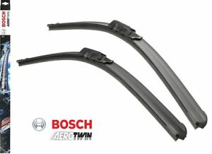 Bosch Aerotwin Flat Blade A855S Front Window Windscreen Wiper Blade Set Pair