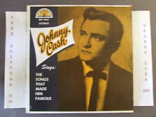 JOHNNY CASH SONGS THAT MADE HIM FAMOUS STEREO LP SUN SLP 1235 W/ I WALK THE LINE