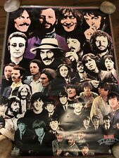 """THE BEATLES ROCK 'N' ROLL MUSIC COLLAGE POSTER  18 """"X 24"""" POP VINTAGE"""