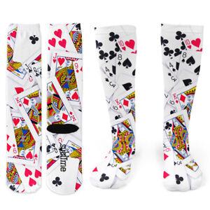 Poker Playing Cards Knee Socks - Footnotes Novelty Socks