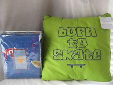 Dreamland Street Lite 6 Pc Twin Duvet Sham Sheet Set Pillow Skateboard Surfboard