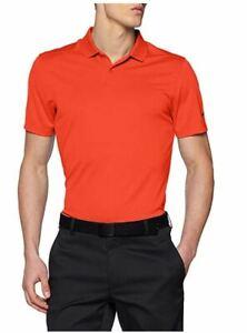 Nike Men's Dri-Fit Victory Solid Polo Golf Shirt Top Orange X-Large XL #72830