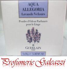 GUERLAIN AQUA ALLEGORIA LAVANDE VELOURS LINEN-SCENTING PERFUMED POWDER  - 5X20 g