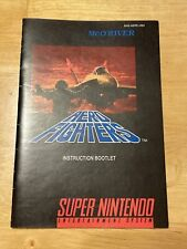 AERO FIGHTERS Custom Replacement Game Instruction Manual Only For Super SNES