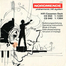 NORDMENDE - CD 950 1.133H CD 940 1.136H - Anleitung Instructions  B2323