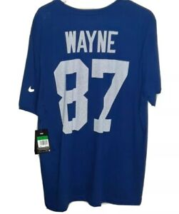 NWT! MSRP $32.00! NFL Indianapolis Colts #87 Reggie Wayne Jersey Shirt! Adult...