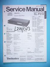 Service Manual-instrucciones para Technics sl-p310, original