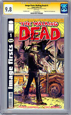 WALKING DEAD #1 CGC SS 9.8 *SIGNED KIRKMAN & MOORE* IMAGE FIRSTS REP NYCC 2012