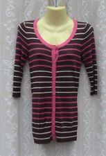 Ladies Brown Striped Cardigan, Size 8-10, BNWOT
