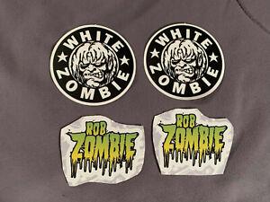 "Lot (4) WHITE ZOMBIE 2"" to 2 1/2"" Band Logo STICKERS Fast! FREE SHIP! Rob Zombie"