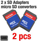 SanDisk 2 x micro SD adapter reader for 16GB 32GB 64GB memory card converter SD