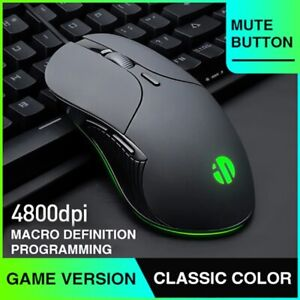 DPI 6 Button Mute RGB Luminous USB Wired Gaming Mouse Computer Desktop Laptop
