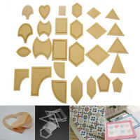 54Pcs DIY Acrylic Quilting Templates Sewing Stencils Patchwork Ruler Sewing TOP