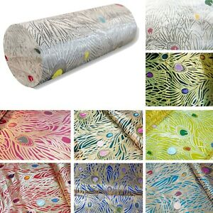 Long Tube Bolster Cover*Chinese Rayon Brocade Throw Neck Roll Custom Size*BN6