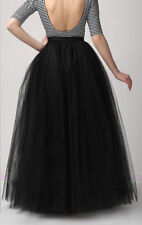 "5 Layers 39"" Maxi Women Tulle Skirts Long Celebrity Skirt Ball Gown Plus Size++"