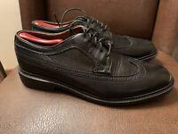 Frye Company Mens Size 11D Black Leather James Oxford Dress Shoes Wingtip