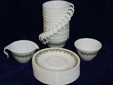 32 Vintage Corelle Pyrex CRAZY DAISY SPRING BLOSSOM Cups & Saucers Cream & Sugar