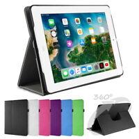 360° drehbar Deluxe Schutz Hülle iPad 2 3 4 Smart Leder Cover Case Ständer Folie