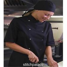 Dennys AFD Thermocool Panel Chaqueta De Chef XS-3XL Negro/Blanco Con