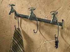 "WALL HOOKS - ""VINTAGE WATER FAUCET"" TRIPLE WALL HOOK"