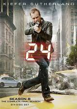 24: The Complete Eighth Season 8 Eight (DVD, 2010, 6-Disc Set) - NEW!!