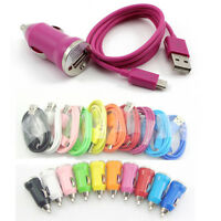 3FT Micro USB Sync Data Cable+Mini Car Charger for Samsung Galaxy S4 S3 S2 I9500