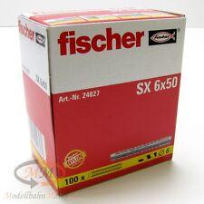 FISCHER Dübel 24827 Spreizdübel SX 6 x 50 VPE = 100 Stück - NEU