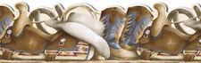 COWBOY BOOTS, SADDLE, LASSO wallpaper border SD25029DB