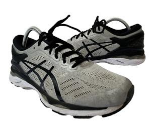 Asics Gel Kayano 24 Mens 8.5 Ex Wide Gray Black Walking Running Shoes Sneakers