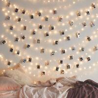 20 LED Photo Card Clip Fairy String Led Light Christmas Wedding Party Home Decor