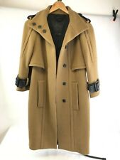 BURBERRY 'PRORSUM', Ladies Wool Caped Tan Midi Coat, EU38/UK10, RRP £2,100