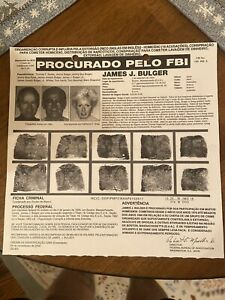 Original WHITEY BULGER FBI WANTED POSTER James & Catherine Grieg mafia