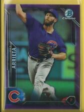 Jake Arrieta 2016 Bowman Chrome PURPLE Refractors #d / 250 Chicago Cubs Phillies