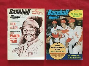 1972-1974 Baseball Digest magazine lot / Allen / Koufax / Robinson / White Sox