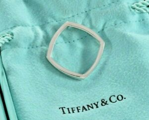 Tiffany & Co Frank Gehry Narrow Torque Square Ring Size 9.5 and Pouch Rare