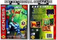 Earthworm Jim - Sega Genesis Custom Case *NO GAME*