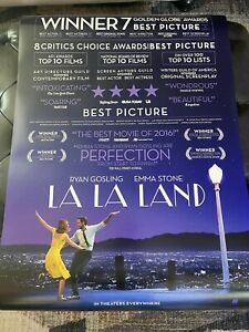 LA LA LAND Theatrical Poster 27x40 D/S NEAR MINT Never Used SEE PHOTOS