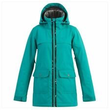 2016 NWT WOMENS BILLABONG EASTEN INSULATED SNOWBOARD JACKET $200 S jade venting