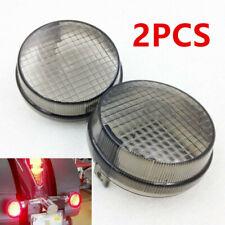 2x Replacement Turn Signal Lenses (Smoked) for Honda Cruisers/Kawasaki Vulcan