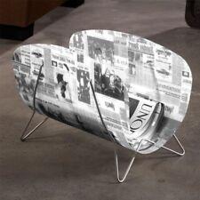 Magazine Newspaper Rack Industrial Style Storage Basket 45.5 x 29.5 x 23 cm