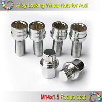 Alloy Wheel Locking Nuts Bolts Lug Anti-theft Studs M14x1.5 for AUDI A3 A4 A5 A6