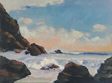 NORTHWEST USA Original Seascape Ocean Expression Oil Painting 18x24 080417 KEN